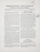 Box 5, Folder 15, Rheology Bulletin, Vol 22, No. 1, Spring 1953