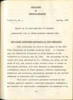 Box 5, Folder 13.5, Supplement to Rheology Bulletin, Vol 21, No. 1, Spring 1952