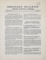 Box 5, Folder 16, Rheology Bulletin, Vol 22, No. 2, Fall 1953