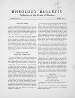 Box 5, Folder 17, Rheology Bulletin, Vol 23, No. 1, Spring 1954