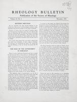Box 5, Folder 19, Rheology Bulletin, Vol 23, No. 3, December 1954