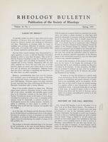 Box 5, Folder 20, Rheology Bulletin, Vol 24, No. 1, Spring 1955