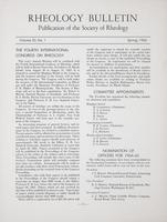 Box 5, Folder 38, Rheology Bulletin, Vol 32, No. 1, Spring 1963