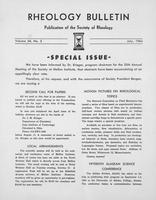 Box 5, Folder 41, Rheology Bulletin, Vol 33, No. 3, July 1964