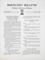 Box 5, Folder 43, Rheology Bulletin, Vol 34, No. 1, January 1965