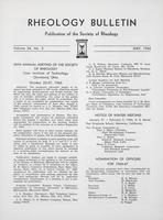 Box 5, Folder 44, Rheology Bulletin, Vol 34, No. 2, May 1965