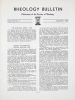 Box 5, Folder 45, Rheology Bulletin, Vol 34, No. 3, September 1965