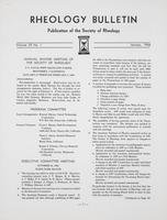 Box 5, Folder 46, Rheology Bulletin, Vol 35, No. 1, January 1966