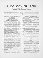 Box 5, Folder 47, Rheology Bulletin, Vol 35, No. 2, May 1966