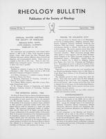 Box 5, Folder 48, Rheology Bulletin, Vol 35, No. 3, September 1966