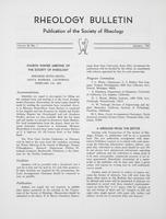 Box 5, Folder 49, Rheology Bulletin, Vol 36, No. 1, January 1967