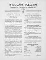 Box 5, Folder 50, Rheology Bulletin, Vol 36, No. 2, May 1967