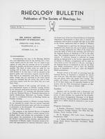 Box 5, Folder 51, Rheology Bulletin, Vol 36, No. 3, September 1967