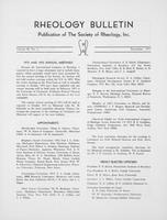 Box 6, Folder 13, Rheology Bulletin, Vol 40, No. 3, December 1971