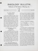 Box 6, Folder 14, Rheology Bulletin, Vol 41, No. 1, June 1972