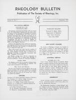 Box 6, Folder 15, Rheology Bulletin, Vol 41, No. 2, December 1972