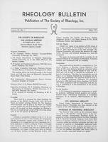 Box 6, Folder 16, Rheology Bulletin, Vol 42, No. 1, May 1973
