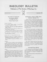 Box 6, Folder 17, Rheology Bulletin, Vol 42, No. 2, September 1973