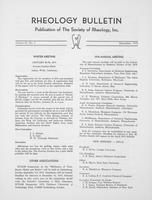 Box 6, Folder 18, Rheology Bulletin, Vol 42, No. 3, December 1973