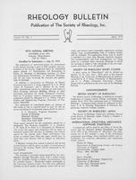 Box 6, Folder 19, Rheology Bulletin, Vol 43, No. 1, April 1974