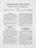 Box 6, Folder 23, Rheology Bulletin, Vol 44, No. 3, December 1975