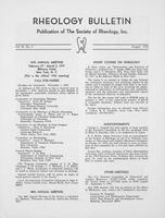 Box 6, Folder 25, Rheology Bulletin, Vol 45, No. 2, August 1976