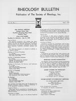 Box 6, Folder 29, Rheology Bulletin, Vol 47, No. 1, April 1978