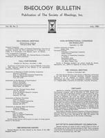 Box 6, Folder 34, Rheology Bulletin, Vol 49, No. 2, July 1980