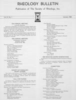 Box 6, Folder 38, Rheology Bulletin, Vol 51, No. 1, January 1982