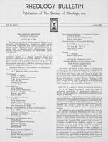 Box 6, Folder 39, Rheology Bulletin, Vol 51, No. 2, July 1982