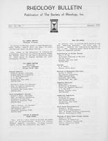 Box 6, Folder 40, Rheology Bulletin, Vol 52, No. 1, January 1983