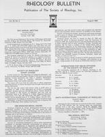 Box 6, Folder 41, Rheology Bulletin, Vol 52, No. 2, August 1983
