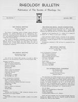 Box 6, Folder 42, Rheology Bulletin, Vol 53, No. 1, January 1984