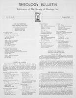 Box 6, Folder 43, Rheology Bulletin, Vol 53, No. 2, August 1984