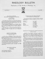 Box 6, Folder 45, Rheology Bulletin, Vol 54, No. 2, July 1985