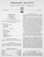 Box 6, Folder 47, Rheology Bulletin, Vol 55, No. 2, July 1986