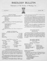 Box 6, Folder 48, Rheology Bulletin, Vol 56, No. 1, January 1987