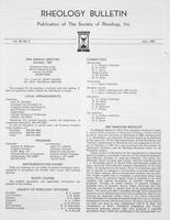 Box 6, Folder 49, Rheology Bulletin, Vol 56, No. 2, July 1987