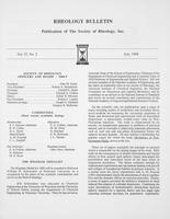 Box 6, Folder 51, Rheology Bulletin, Vol 57, No. 2, July 1988