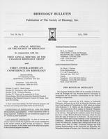 Box 6, Folder 53, Rheology Bulletin, Vol 58, No. 2, July 1989