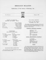 Box 6, Folder 54, Rheology Bulletin, Vol 59, No. 1, January 1990