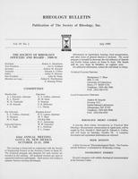 Box 6, Folder 55, Rheology Bulletin, Vol 59, No. 2, July 1990