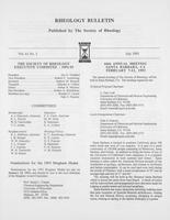 Box 7, Folder 02, Rheology Bulletin, Vol 61, No. 2, July 1992