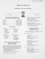 Box 7, Folder 09, Rheology Bulletin, Vol 65, No. 1, January 1996