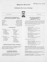Box 7, Folder 10, Rheology Bulletin, Vol 65, No. 2, July 1996