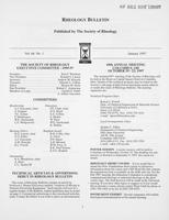 Box 7, Folder 11, Rheology Bulletin, Vol 66, No. 1, January 1997