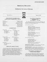 Box 7, Folder 15, Rheology Bulletin, Vol 68, No. 1, January 1999