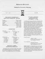 Box 7, Folder 22, Rheology Bulletin, Vol 71, No. 2, July 2002