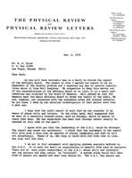 Box 38, Folder 05, National Advisory Committee Correspondence re: 1974 report, 1974