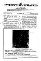 """Box 42, Folder 08, """"Zuschriften und Vorlufige Mitteilungen: Zur Ordnung des Lanthanspektrums"""", Die Naturwissenschaft, 1924"""